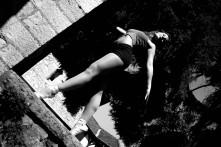 Ballett-Shooting mit einer Schülerin
