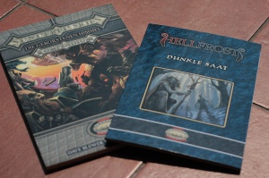 Zweimal wilde Welten: Das Sundered Skies Kompendium und das Hellfrost-Szenario Dunkle Saat, beide für Savage Worlds