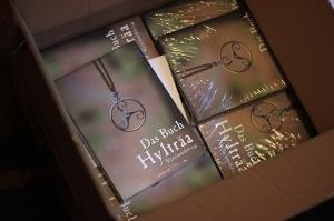 Noch ganz unschuldig im Karton: Die Vereinsedition vom Buch Hylträa