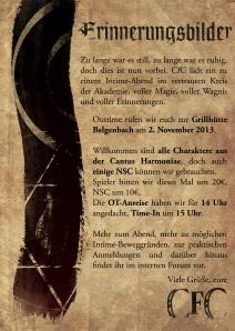 Interner Flyer für unsere kleine Veranstaltung