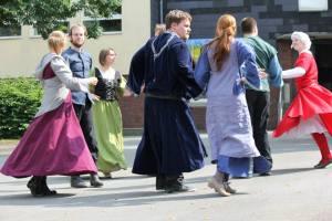 Beim Auftritt an der Grundschule in Stolberg