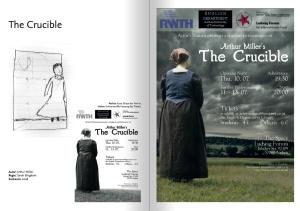 """""""The Crucible"""" war das insgesamt vierte Stück der Gruppe Actor's Nausea, für das ich ein Poster angefertigt habe. Es war das erste Motiv, das von Anfang an auch in Farbe angelegt wurde."""