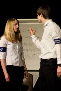 """Aufnahme während der Schultheatertage 2014; hier: """"Die Welle"""""""