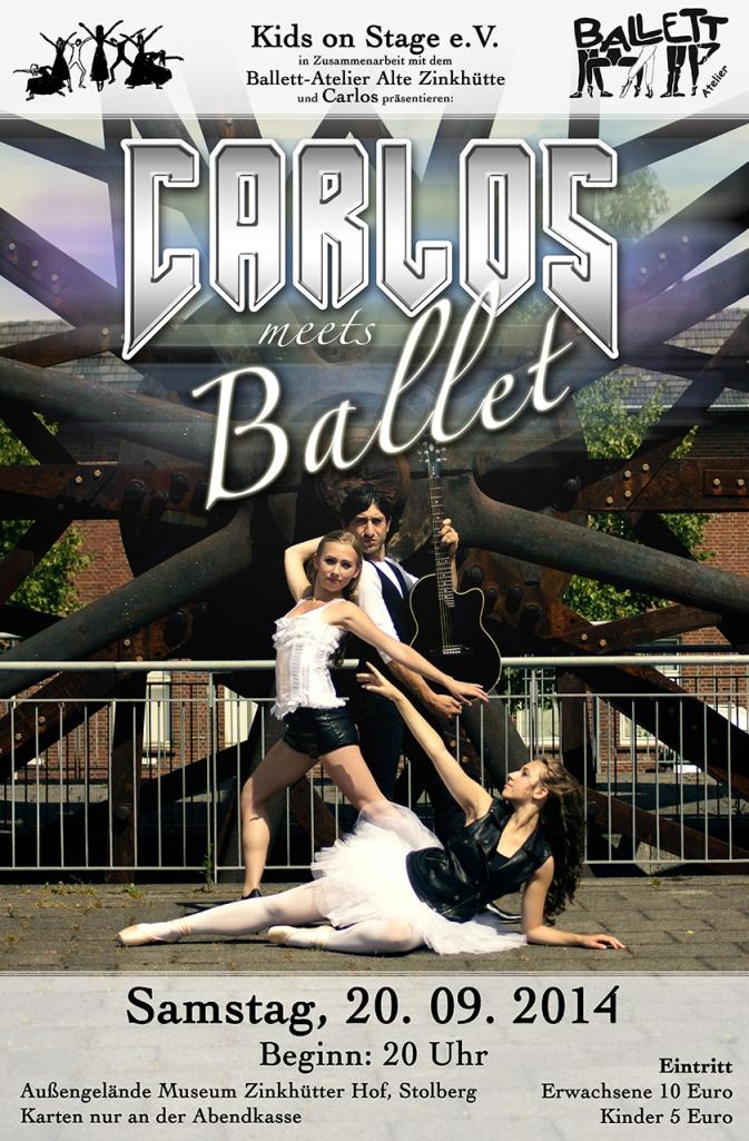 """Das Poster für """"Carlos meets Ballet"""""""