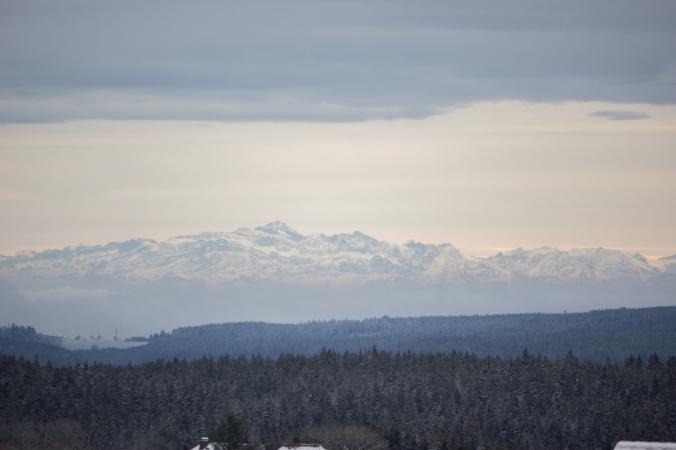 Auch dieses Mal war uns wieder ab und an ein Blick auf die Alpen gegönnt …