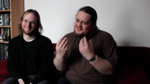 Matthias und ich vor der Kamera für's Xoro-Jubiläum 2015