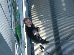 Meinereiner bei den Dreharbeiten der Video-Elemente für Turbolento (Foto © Anke Simon)